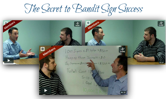 the secret to bandit sign success