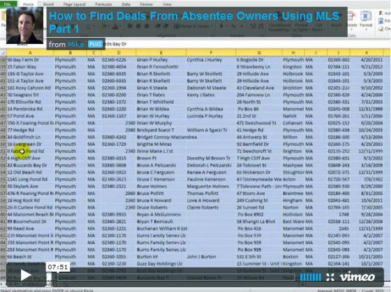 how to find deals from absentee owners