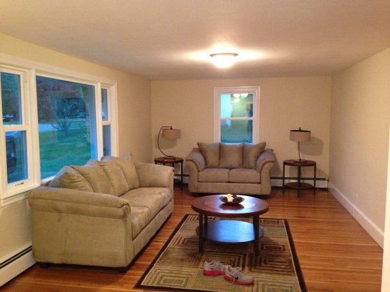 whitman family room after